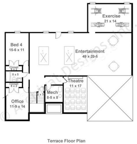 basement floor plan mystic lane retirement house plan ranch floor plan