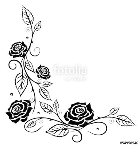 rose coloring pages border rose border coloring pages