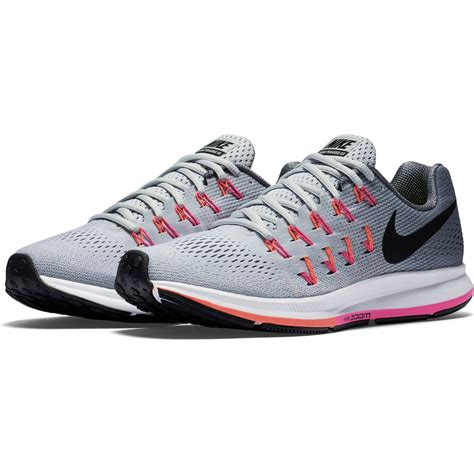 nike womens running shoes grey and pink nike womens air zoom pegasus 33 running shoes grey pink