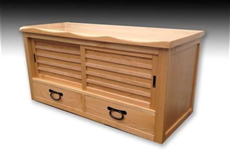 japanese shoe bench japanese beech wood okidoko or geta shoe bench