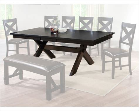 winners only dining table edgewater in espresso finish wo