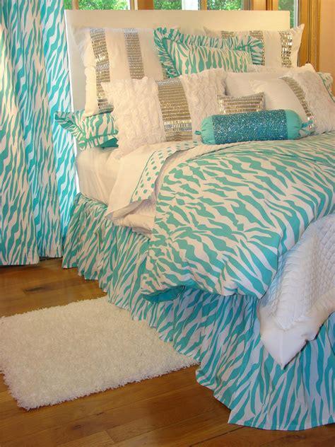 tween teen bedding turquoise zebra glamour bedding