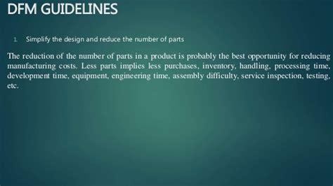 design for manufacturing dfm guidelines design for x design for manufacturing design for assembly