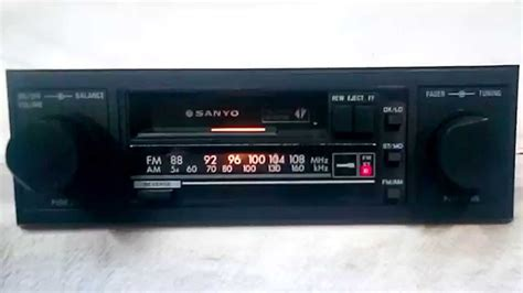 cassette car stereo vintage sanyo ft u50 am fm cassette car stereo