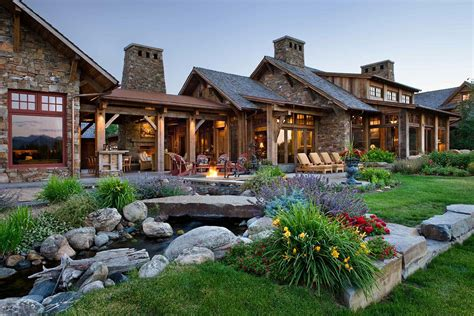 locati architects a rustic family compound in the mountains of montana