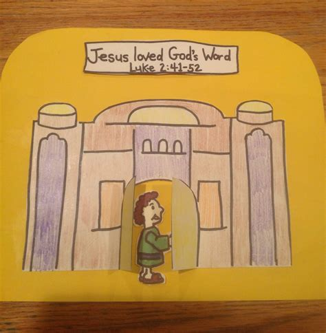 jesus crafts for jesus teaching in the temple bible craft by let bible
