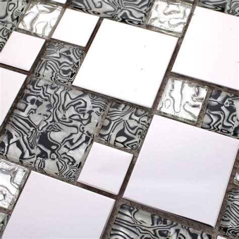 glass tile bar top silver stainless steel glass blend mosaic sheets crystal glass patterns metal