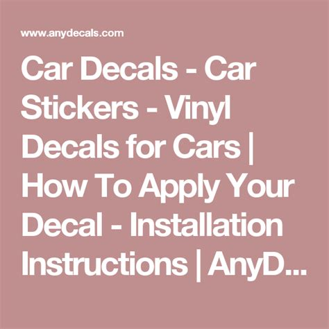 Window Decals How To Apply by Car Decals Car Stickers Vinyl Decals For Cars How To