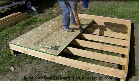 build a floor how to build a shed storage shed building instructions