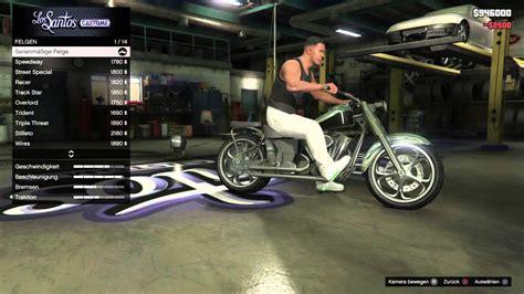 Gta 5 Online Motorrad Tunen by Gta 5 Western Bagger Quot Franklins Motorcycle Quot Tuning Tipp 1