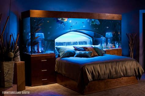 aquarium beds cool custom fish tank headboard for your bed 171 twistedsifter