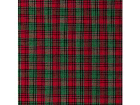 CHR 39 Red & Green Homespun Christmas Plaid Fabric