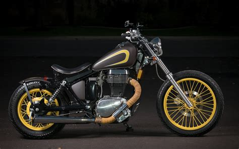 Suzuki Savage Bobber by Suzuki Savage S40 Blue Collar Bobbers