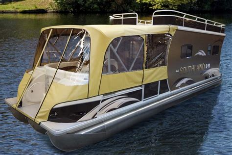 pontoon boats sleeping quarters hrv hybrid recreational vessel