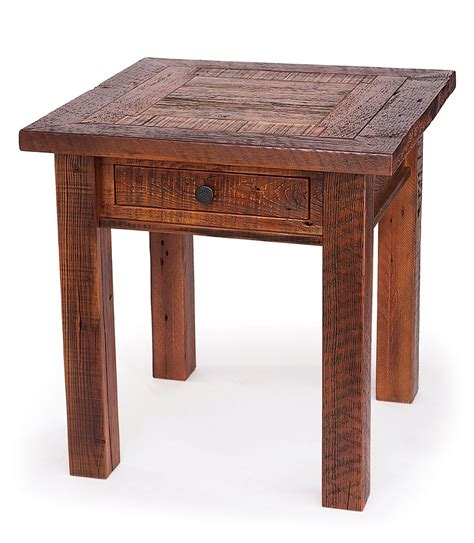 reclaimed wood end table reclaimed wood end table with drawer this reclaimed wood