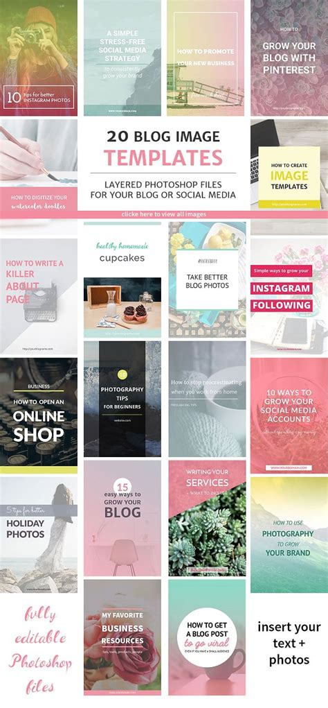 20 Blog Post And Instagram Templates Web Elements On Instagram Calendar Template