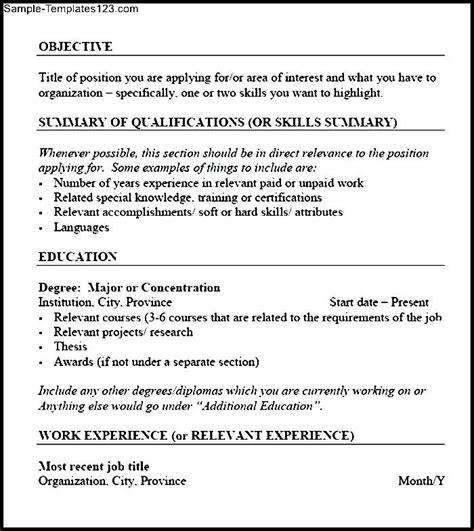 csc resume sles pdf sle templates