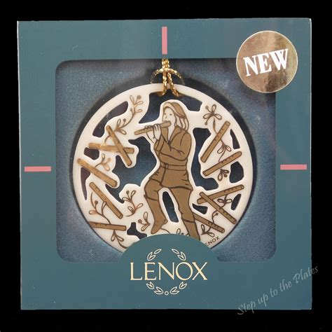 lenox twelve days of christmas snowflake ornaments lenox china 11 pipers piping 12 days of tree ornament eleven 1997 ebay