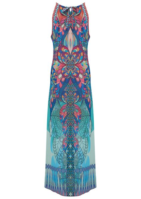 Glassis Maxi hale bob tsukiki stained glass maxi dress blue