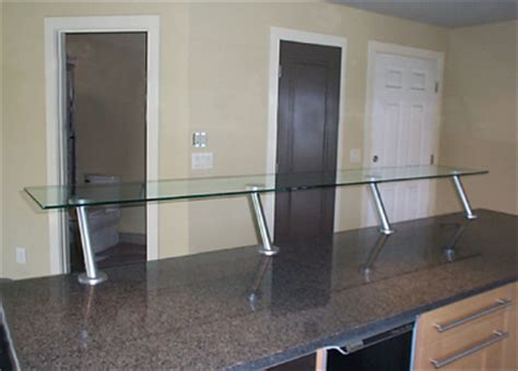 Glass Breakfast Bar Shelf by Custom Glass Works Of Fort Mill Sc Serving And