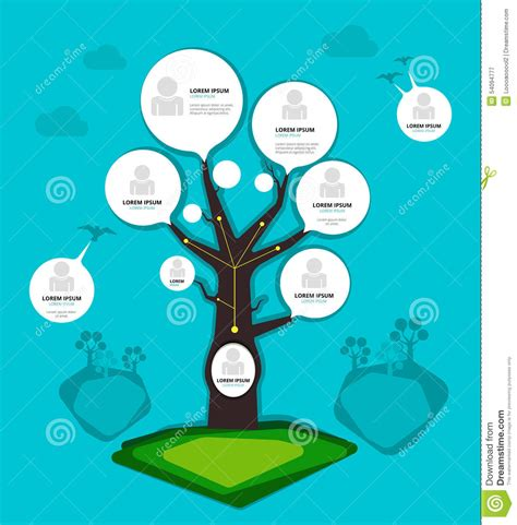 design art org organization chart tree concept vector illustration stock