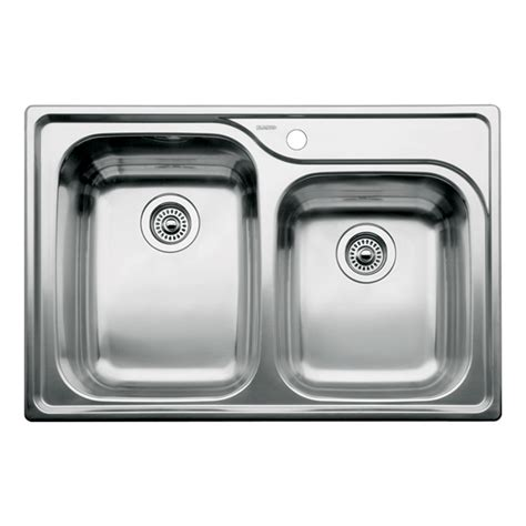 Shop Blanco Supreme 22 In X 33 In Stainless Steel Double Drop In Kitchen Sinks Stainless Steel