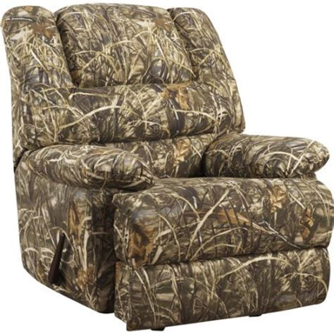 real tree recliner realtree camouflage deluxe recliner walmart com