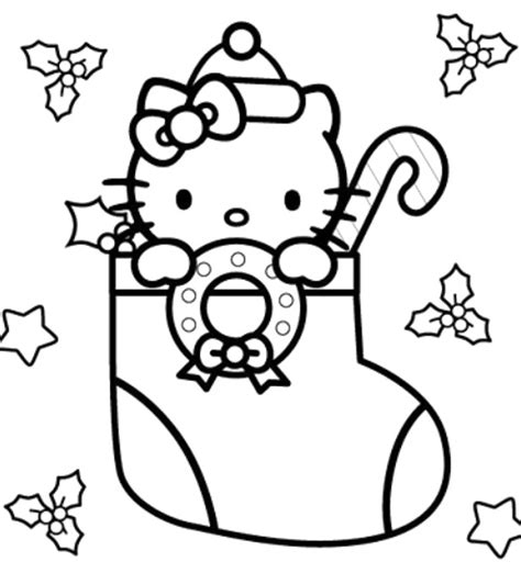 Christmas Coloring Pages Kitty | hello kitty christmas coloring page coloring pages