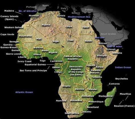 7 wonders of africa map the seven coolest wonders on earth
