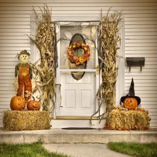 Halloween Decorations For Front Porch Decorating Your Yard For Halloween Thriftyfun