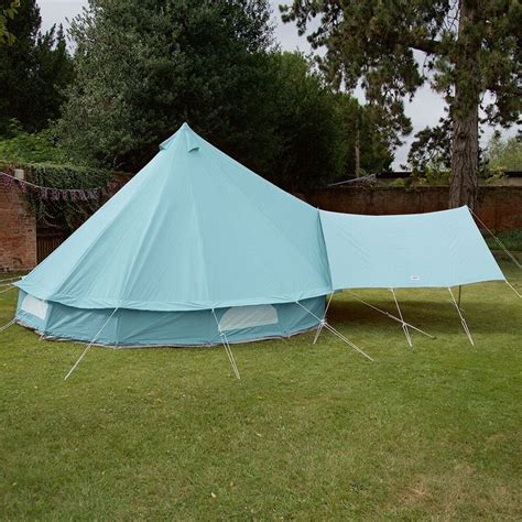bell tent awning sky blue bell tent canopy boutique cing