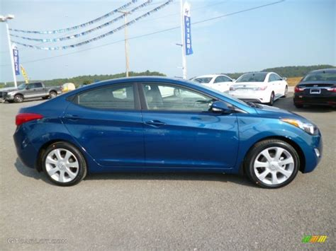 windy sea blue hyundai windy sea blue 2013 hyundai elantra limited exterior photo