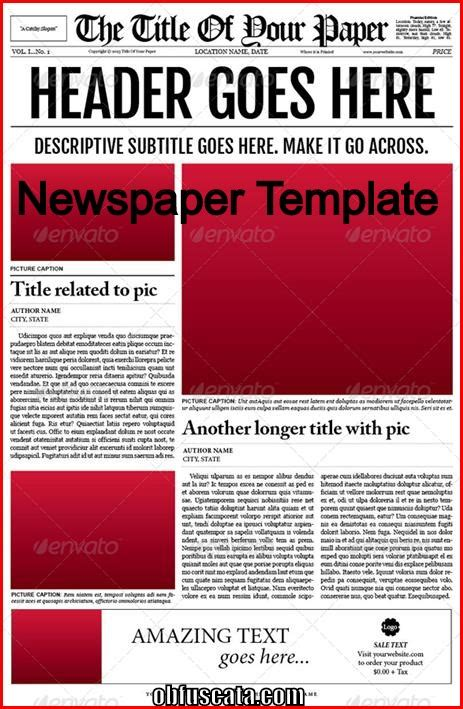 newspaper template points to note in a newspaper template