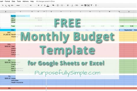 simple monthly budget template free free monthly budget template purposefully simple