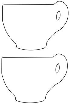 Teapot Templates Free Printable Cut The Teapot Handle And Spout From 3 4 Quot Cedar Using These Cup Template Printable