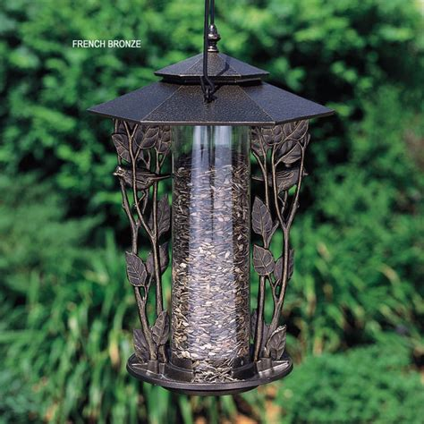 whitehall 12 inch chickadee silhouette bird feeder