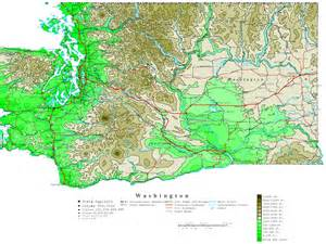 washington map washington contour map