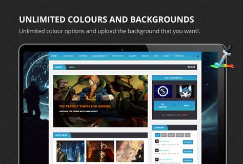 themeforest game theme site templates clan war gaming template themeforest
