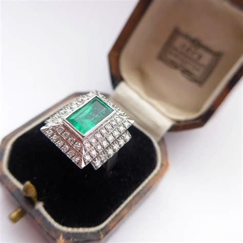 Ruby 24 2ct vintage deco style 2ct emerald 1 24