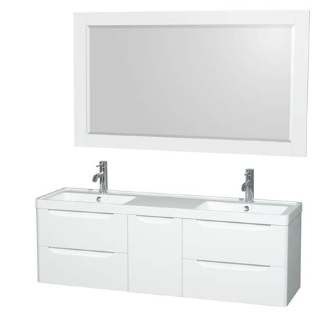 60 in wall mount bathroom vanity set with double sinks murano 60 quot wall mounted double bathroom vanity set with