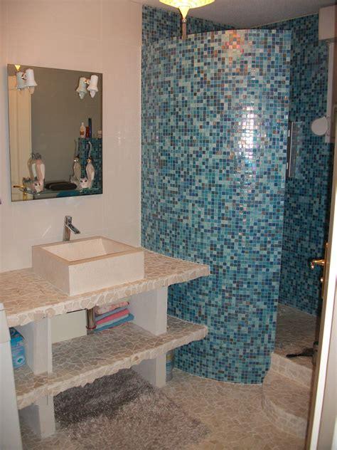 Supérieur Mosaique Bleu Salle De Bain #1: image