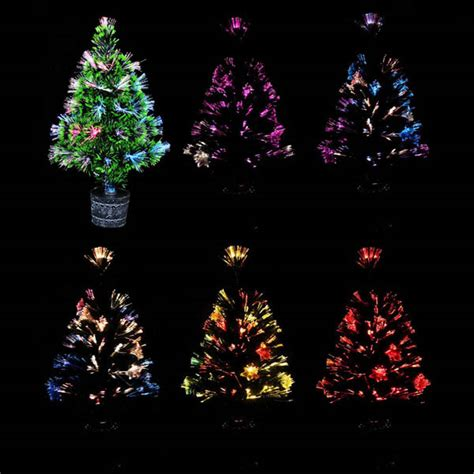 colorful fiber optic christmas tree home garden pub decor