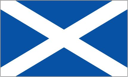 Sticker Fürs Motorrad flag of scotland a part of the empire and