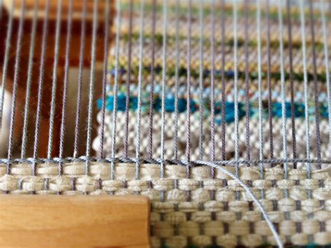 rug weaving loom twining at the end of a rag rug on the loom weave inspiration twine