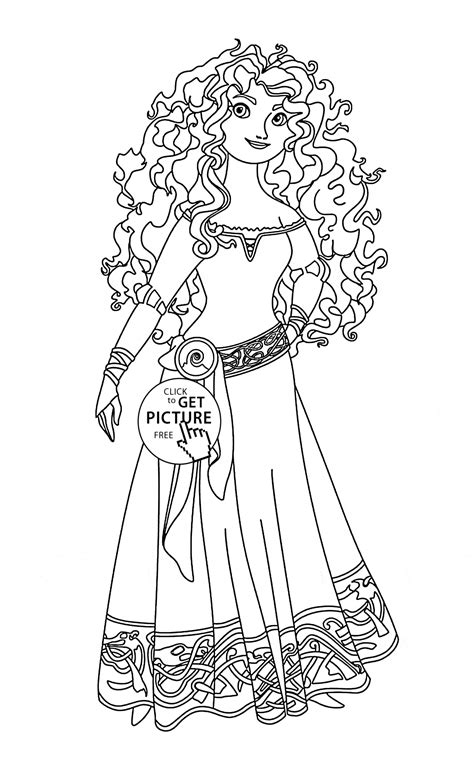 free printable disney brave coloring pages brave merida coloring page for kids disney princess