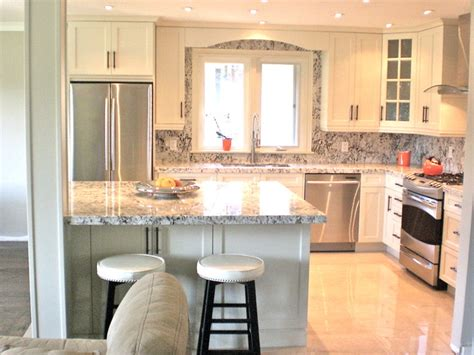 Kitchen Counter Backsplash Ideas by Small Kitchen Renovation Traditional Kitchen Toronto