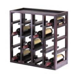 winsome wood 92144 kingston stackable slot cube wine rack