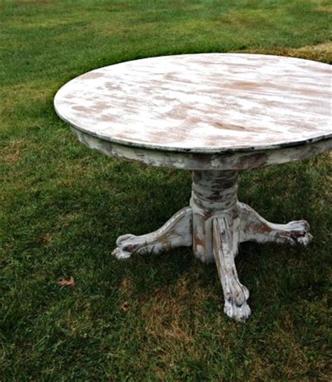 whitewashed round dining table round oak tables something vintage rentals