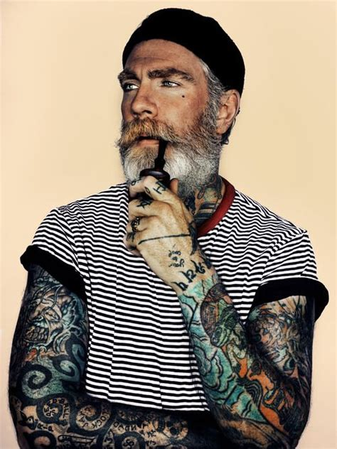 silver fox tattoo beautiful and beards on