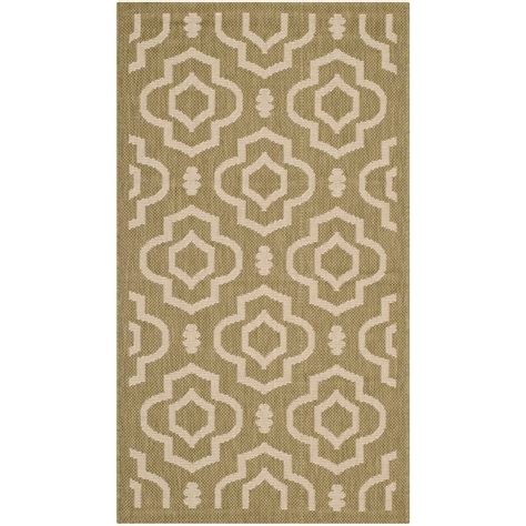 2 X 3 Outdoor Rug Safavieh Courtyard Green Beige 2 Ft X 3 Ft 7 In Indoor Outdoor Area Rug Cy6926 244 2 The